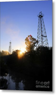 Sunrise On The Sabine Metal Print by Kathy  White