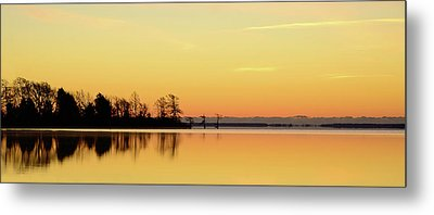 Sunrise Over Lake Metal Print by Patti White Photography