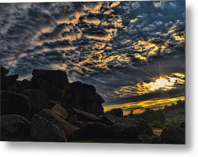 Sunrise Over Little Round Top Metal Print by Dave Sandt