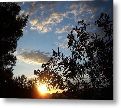 Metal Print featuring the photograph Sunrise Over The Hill by Christine Drake