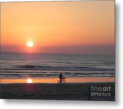 Sunrise Reflection Metal Print by Sandy Owens