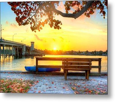 Sunrise Seista Drive Horizontal Metal Print by Jenny Ellen Photography