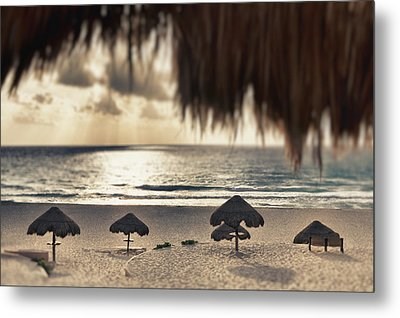 Sunrise Viewed From The Beach Metal Print by Bryan Mullennix