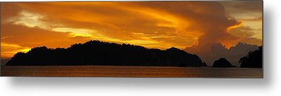 Sunscape Panorama  Curu National Wildlife Park Costa Rica Panorama Metal Print