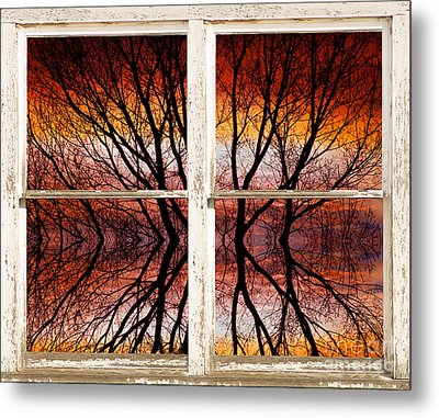 Sunset Abstract Rustic Picture Window View Metal Print by James BO  Insogna