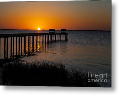 Sunset Across Currituck Sound Metal Print