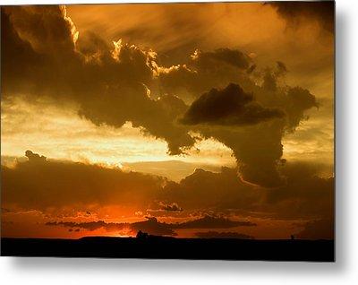 Sunset After The Storm Metal Print by Ellen Heaverlo