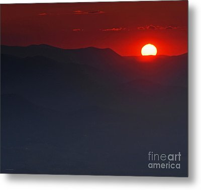 Sunset At Brasstown Bald Metal Print