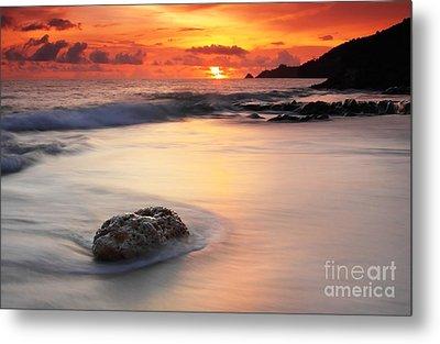 Sunset At Kalim Beach Phuket Thailand Metal Print