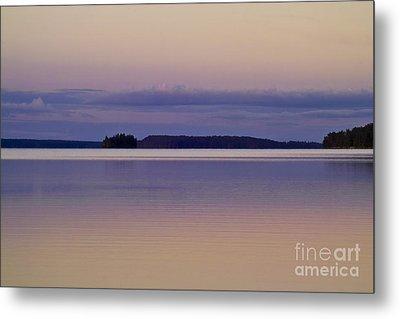 Sunset At Lake Muojaervi Metal Print by Heiko Koehrer-Wagner