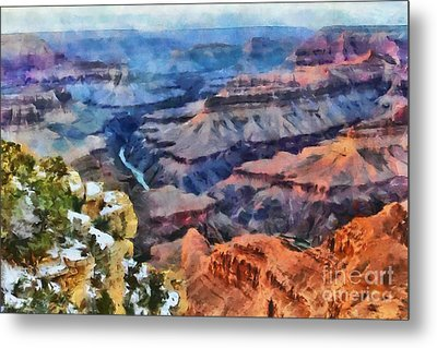 Sunset At Mohave Point At The Grand Canyon Metal Print