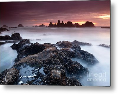 Sunset At Seal Rock Metal Print by Keith Kapple