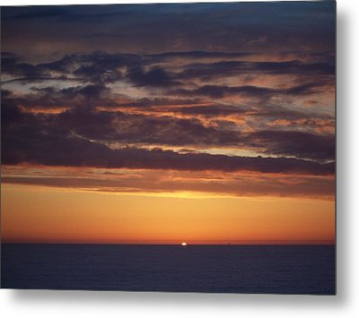 Metal Print featuring the photograph Sunset At Surfside 4 by Peter Mooyman