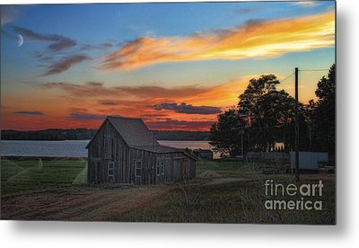 Metal Print featuring the photograph Sunset At The Bog by Gina Cormier