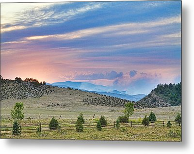 Sunset At The Colorado High Park Wildfire  Metal Print by James BO  Insogna