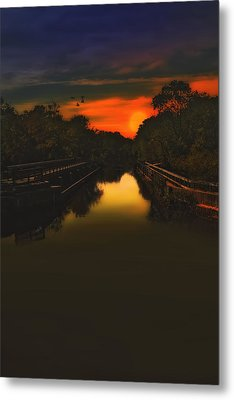 Sunset At The Old Canal Metal Print by Tom York Images