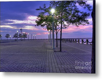 Sunset At The Plaza Metal Print by David Bearden