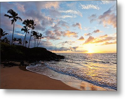 Sunset At Ulua Beach Metal Print