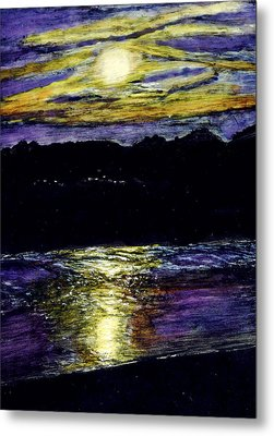 Sunset At York Maine Metal Print by Robert Goudreau