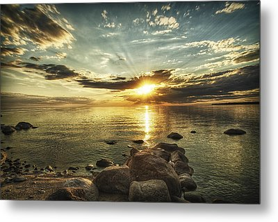 Sunset Beach Metal Print