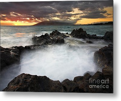 Sunset Boil Metal Print by Mike  Dawson