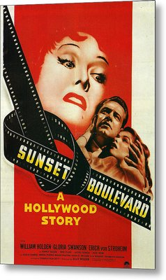 Sunset Boulevard Metal Print by Georgia Fowler