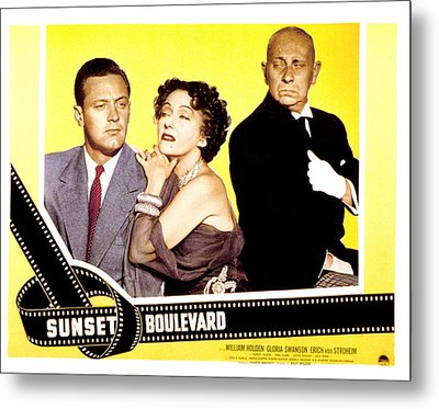 Sunset Boulevard, William Holden Metal Print