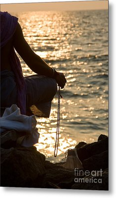 Sunset Chanting Of The Name Of God Metal Print