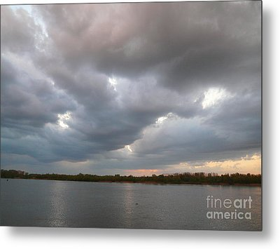 Sunset Clouds Metal Print by Alisa Tek