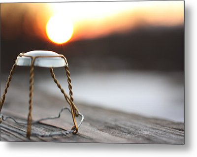 Sunset Cork Cage Metal Print by Robert Rizzolo