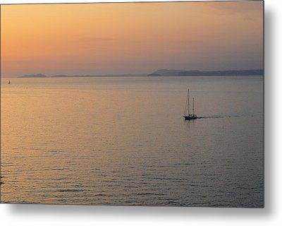Sunset Cruise Metal Print by