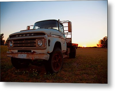 Metal Print featuring the digital art Sunset Dodge by Serene Maisey