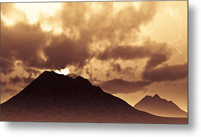 Sunset Fiction Metal Print