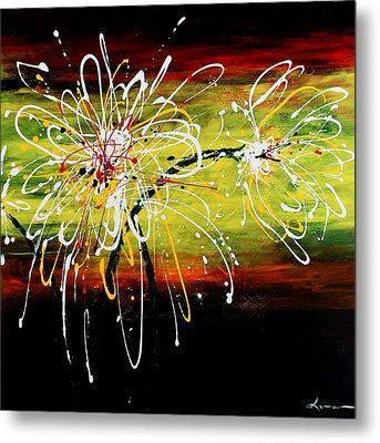 Sunset Flowers Metal Print by Kume Bryant