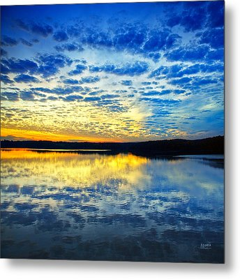 Sunset From Hwy 60 Metal Print by Steven Llorca