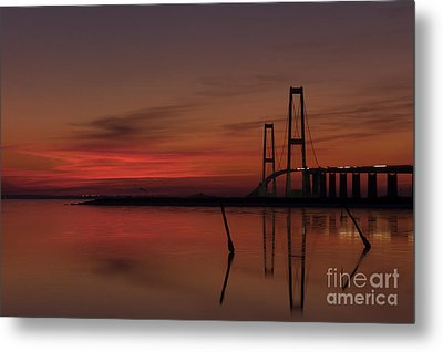 Sunset Great Belt Denmark Metal Print
