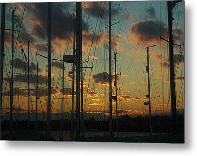 Sunset Harbor Metal Print by Rafael Figueroa