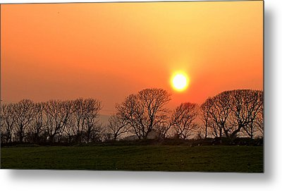 Sunset In Dingle Metal Print by Barbara Walsh