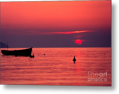 Metal Print featuring the photograph Sunset In Elba Island by Luciano Mortula