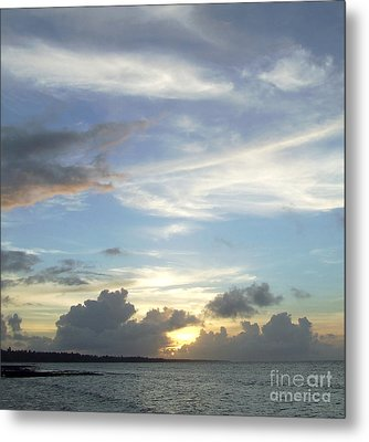 Metal Print featuring the photograph Sunset In Majuro by Andrea Anderegg