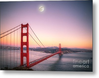 Sunset In San Francisco Metal Print by Jim And Emily Bush