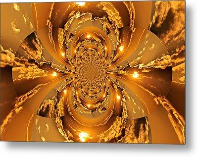 Sunset Kaleidoscope 4 Metal Print by Marty Koch