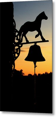Metal Print featuring the photograph Sunset by Karen Harrison
