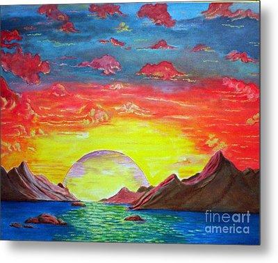 Sunset Metal Print by Kostas Dendrinos