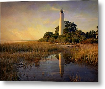 Sunset Lighthouse 3 Metal Print by Marty Koch