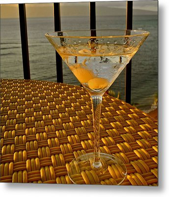 Sunset Martini In Maui I Metal Print by Kirsten Giving