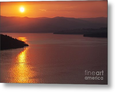 Sunset On Flathead Lake With Wild Horse Island Metal Print by Scotts Scapes