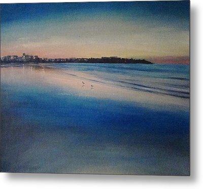 Sunset On Hampton Beach Metal Print by Mark Haley