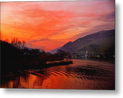 Sunset On Rhine Metal Print