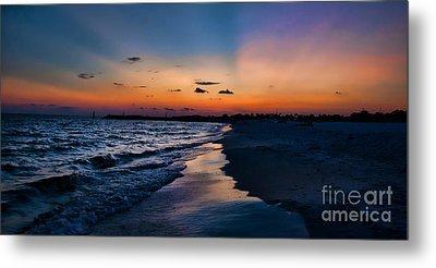 Sunset On The Beach Metal Print